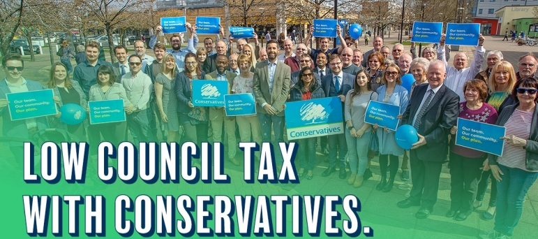 Council Tax lower in Conservative councils