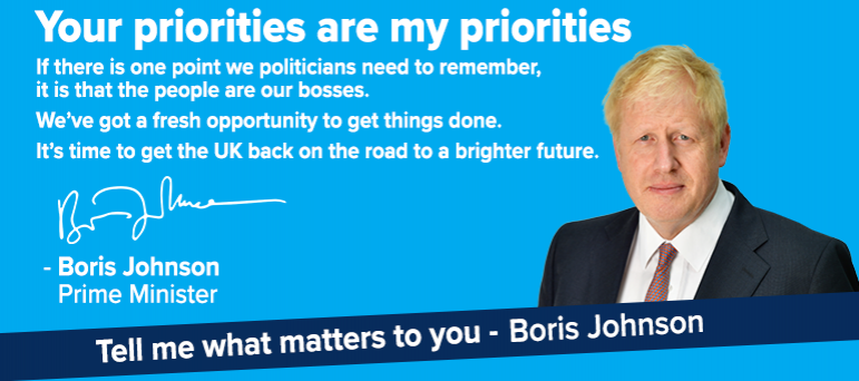 Tell Boris what matters most to you